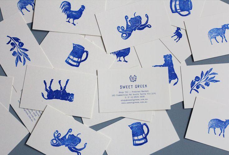 Simple business card sweet greek by studio brave