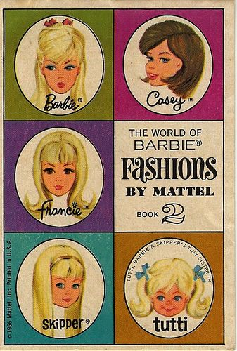 1966 Mattel Booklet - The World of Barbie Fashions by Mattel  - Book 2