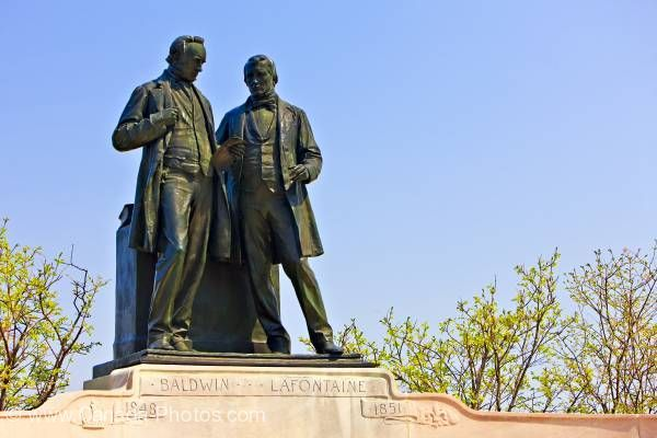 Statue of Robert Baldwin and Sir Louis-Hippolyte Lafontaine on the grounds of Parliament Hill