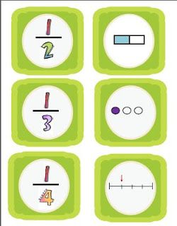Mémory des fractions, comme ça, c'est moins dur à apprendre !