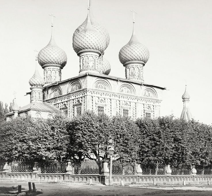 Church of the Resurrection церковь Воскресения at Kostroma in Imperial Russia in 1911.