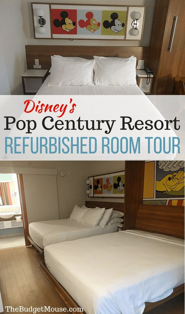 Disney S Pop Century Resort Refurbished Room Photo Tour The Budget Mouse Check Out All Of The De Disneys Pop Century Resort Disney Pop Century Pop Century