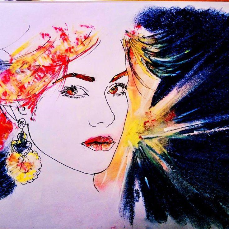 Ritratto 30x30 cm disegno digitale #energia per Auronia contest di Paratissima 10  ------ Portrait 30x30 cm digita art #energy for Auronia contest of #paratissima