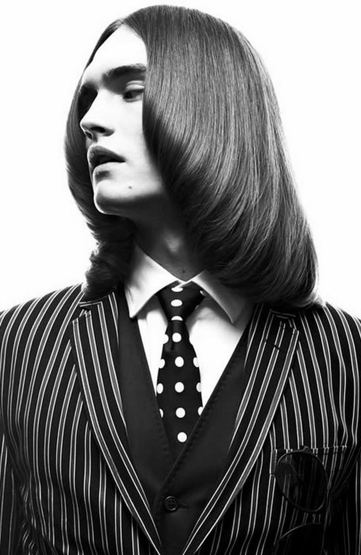 from Messy long hair to groomed classic vintage mens hair.
