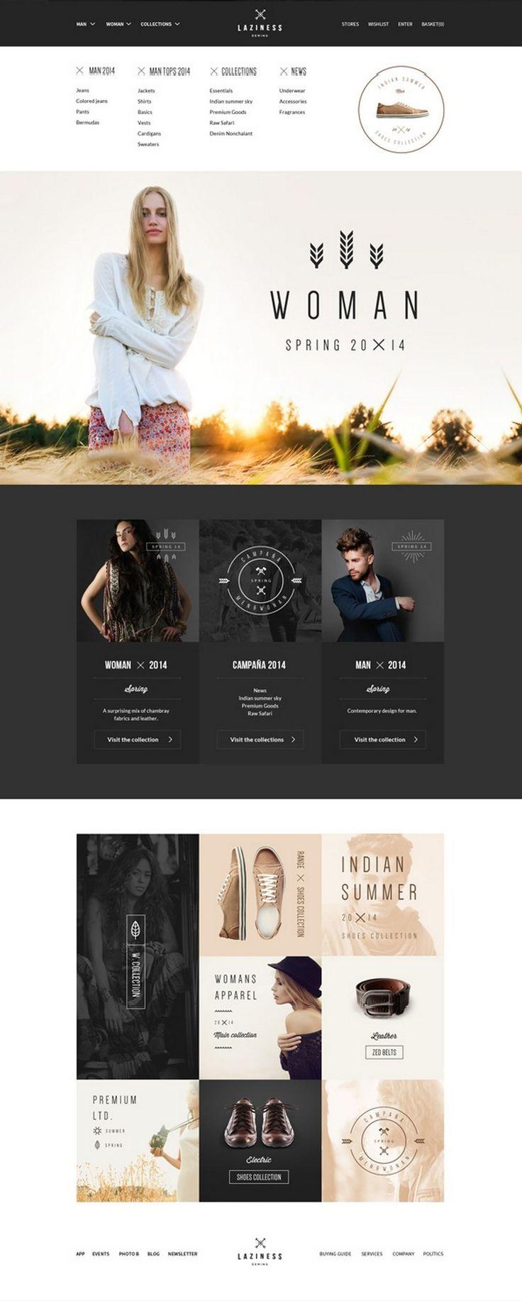 Laziness theme - webdesign