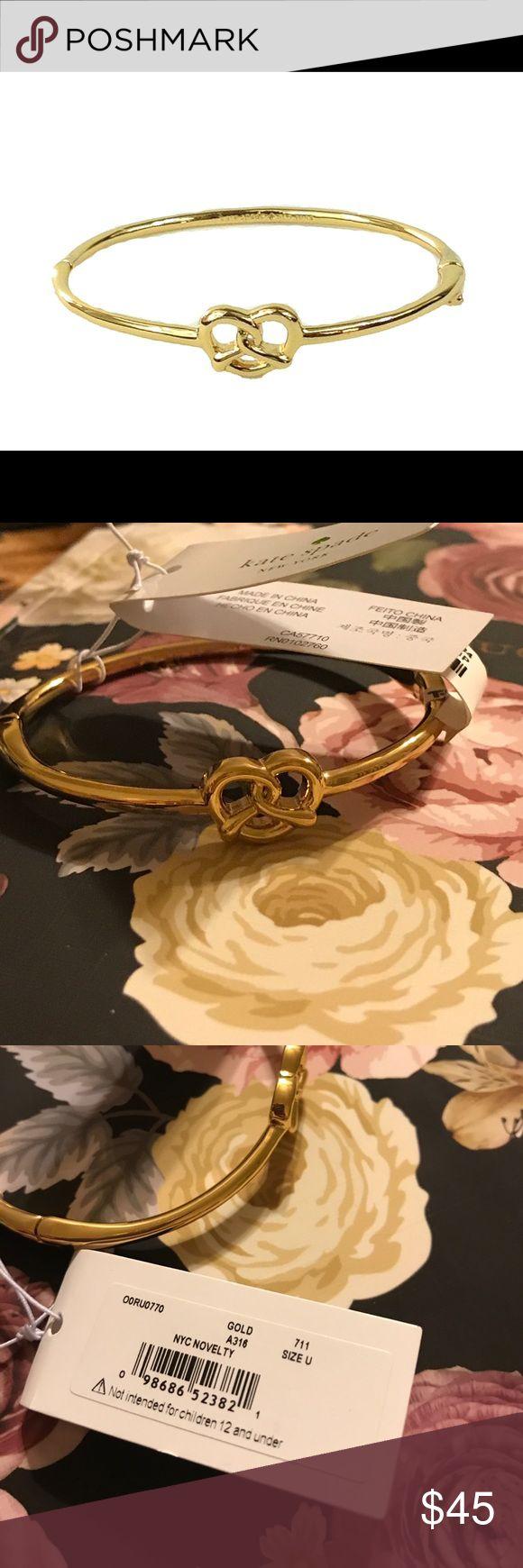 Kate Spade pretzel bangle So fun! Brand new with tags! kate spade Jewelry Bracelets
