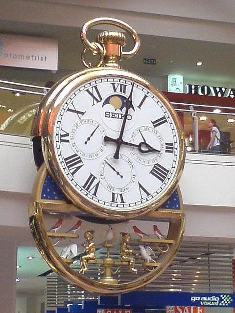 Melbourne Central Clock - chimes every hour with a show playing Australian music