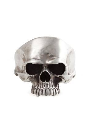 Sterling Silver Skull Cuff Bracelet by Mantiques on Gilt Home: Skull Cuffs, Silver Skull