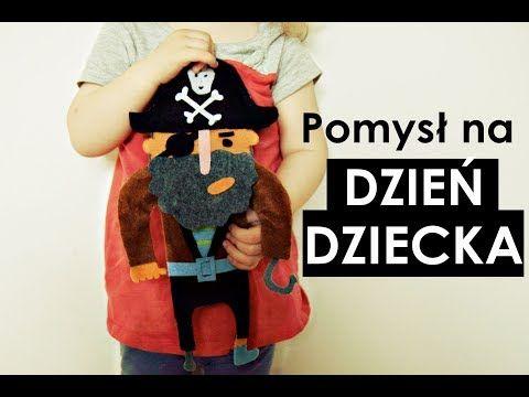 Pomyśł nie tylko na dzień dziecka.  filcowy pirat. -zaradni rodzice - diy