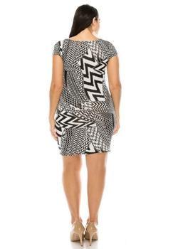Plus Size For Love Layered Peplum Dress 1