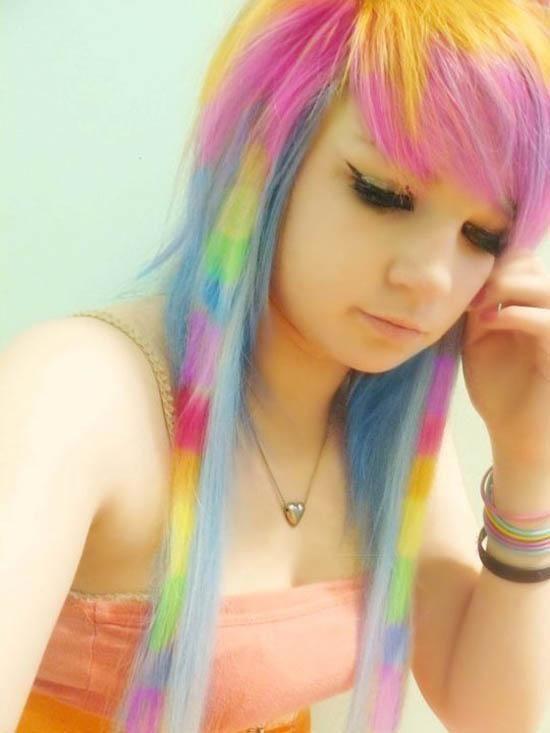 Love this! Pastel rainbow hair