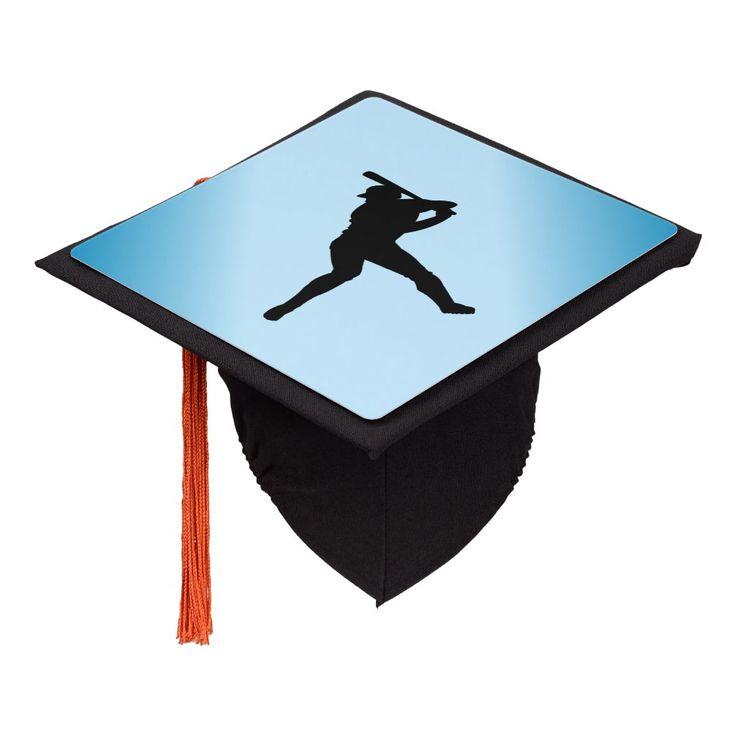 Baseball Batter Blue Sports Graduation Cap Topper | Zazzle.com