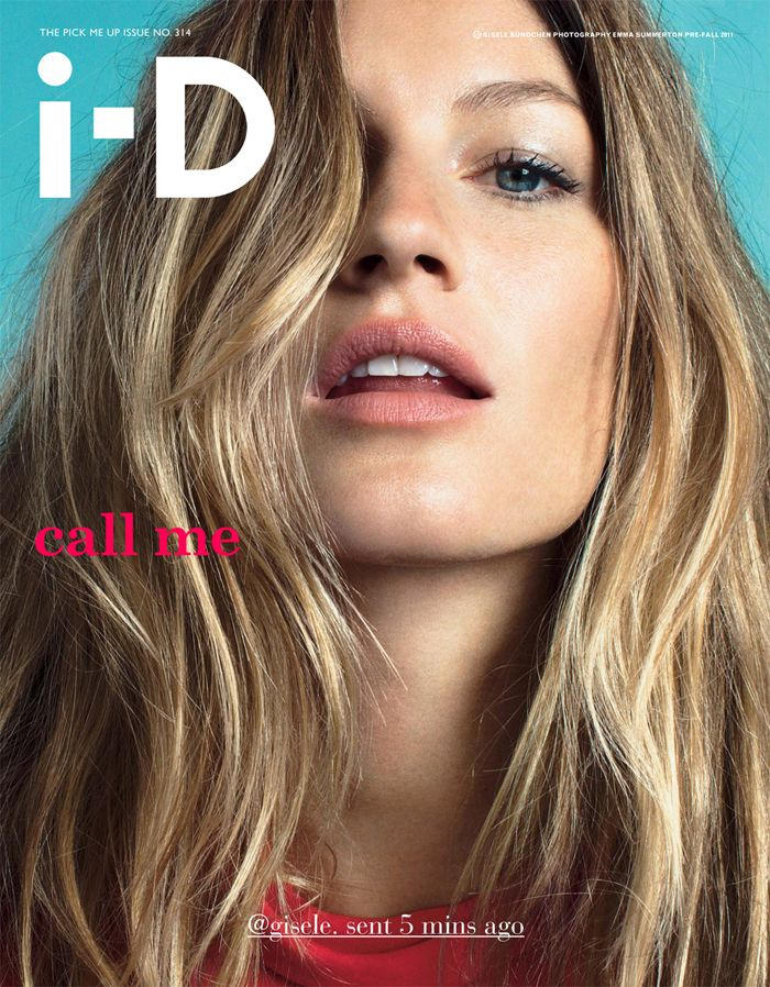 Gisele Bünchen- hair, natural beauty- hair & beauty styling :: i- D cover.