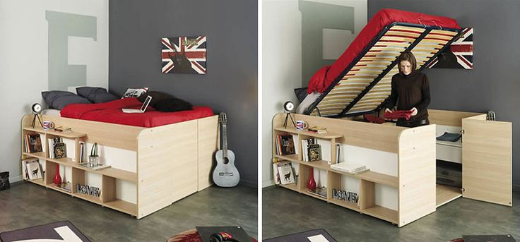 These bed/closet combinations are a good design option for small bedrooms