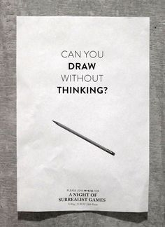 Automatic Drawing exercise for understanding the methods of Surrealist artists