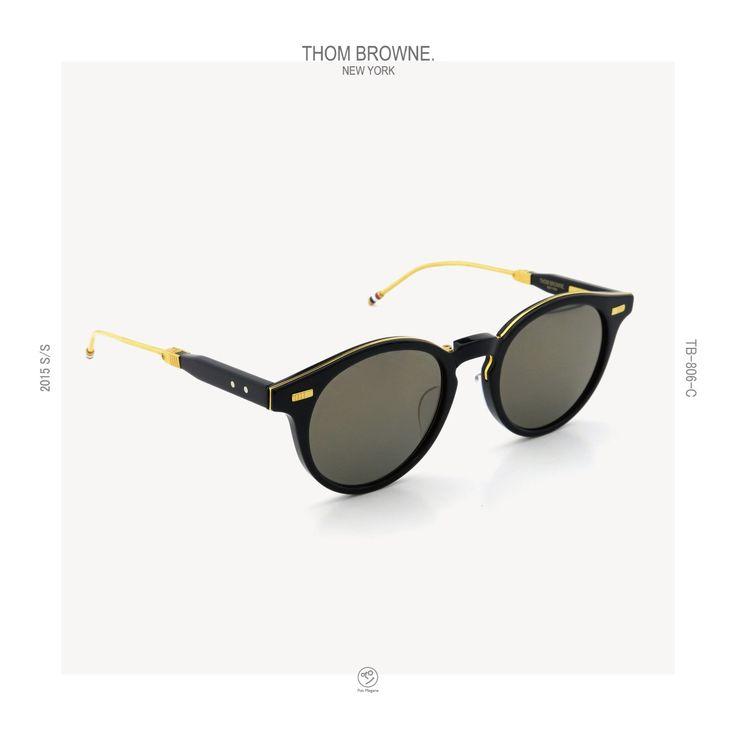 THOM BROWNE. 2015s/s TB-806-C NVY-18kGLD_52size   PonMegane #thombrowne #eyewear #sunglass #2015ss #tb806 #ponmegane