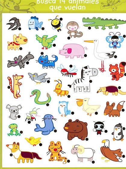 CoSqUiLLiTaS eN La PaNzA BLoGs: ACTIVIDADES COGNITIVAS: BUSCA ANIMALES QUE VUELAN ...