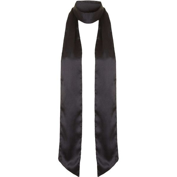 TOPSHOP Super Skinny Scarf ($20) ❤ liked on Polyvore featuring accessories, scarves, topshop, black, wrap shawl, black scarves, black shawl and black wrap shawl