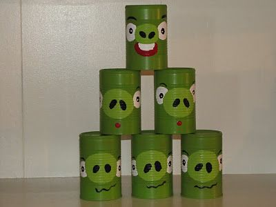 Angry Birds Can Toss Game: Party Games, Idea, Homemade Christmas Gifts, Homemade Beauty, Birds Day Week, Toss Games, Schools Carnivals, Tins Cans, Angry Birds Party