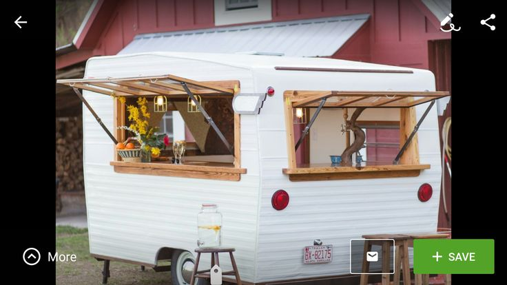 Travel trailer remodel. Love how the windows open up.