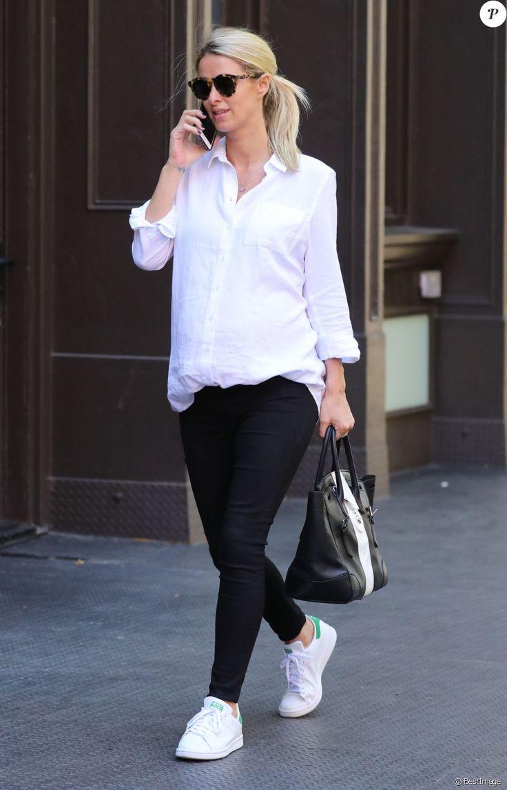 Nicky Hilton ( enceinte) se promène à New York Le 11 juin 2016