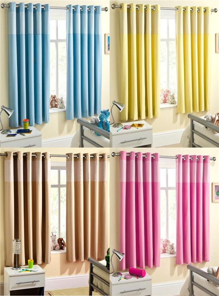 Lovelly Two Tone Colour Curtains For Childrens Bedrooms