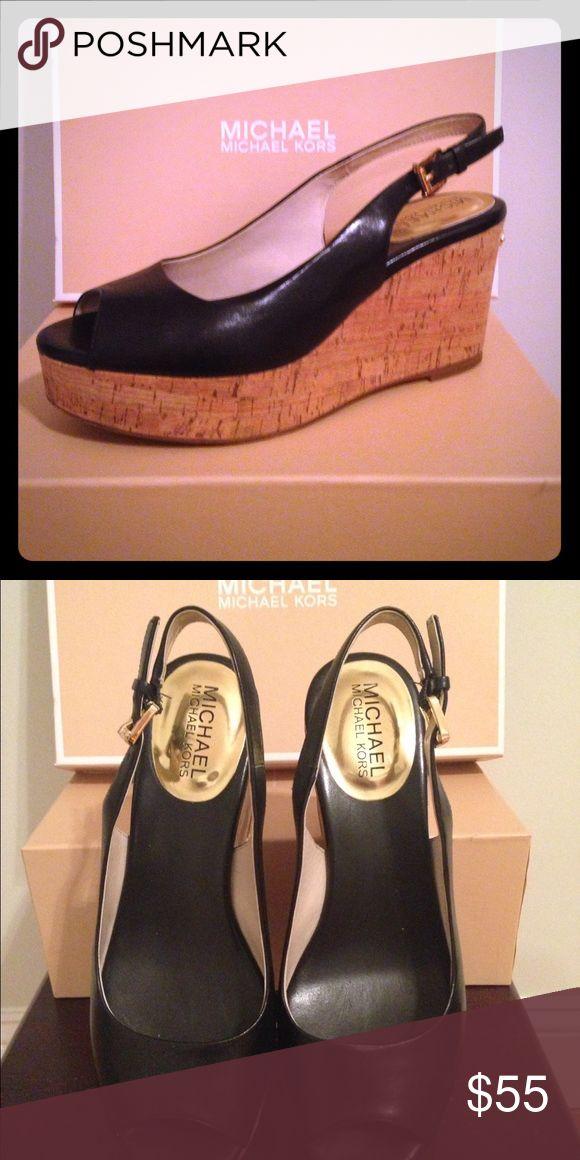 Michael Kors Natalia Sling Black leather MICHAEL Michael Kors Shoes Sandals