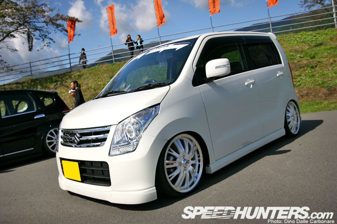 Thought this white on white theme worked well on this brand new Suzuki Wagon R.