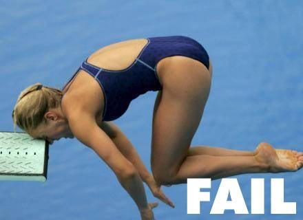 dive fail... always dive head first!