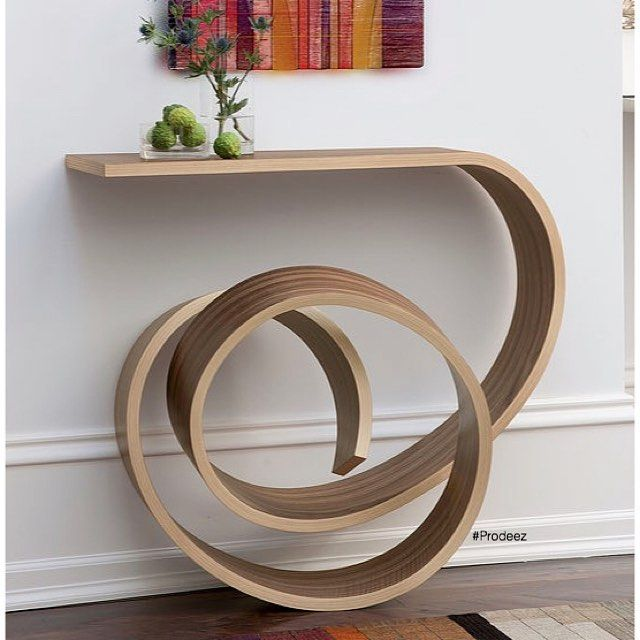 From Prodeez Product Design: Twisted Wood Collection by Kino and Elyse Guerin. For more info & images visit www.prodeez.com #furniture #console #creative #design #ideas #wood #designer #kinoguerin #interior #interiordesign #product #productdesign #instadesign #furnituredesign #prodeez #industrialdesign #architecture #style #art