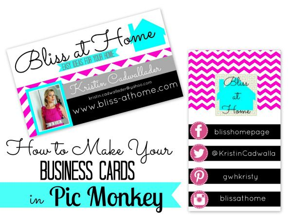 How to Make Your Own Business Cards with PicMonkey