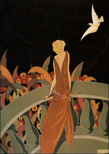 Illustration by Edouard Helouze, 'Le Messager'.