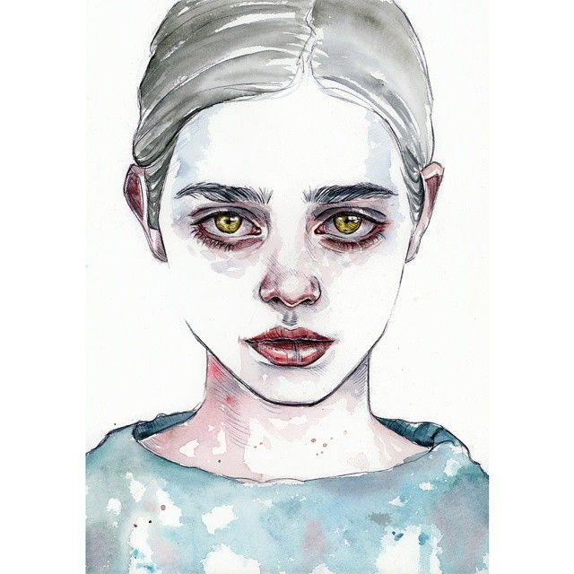 Golden Misfit | watercolors & pen | facebook.com ...