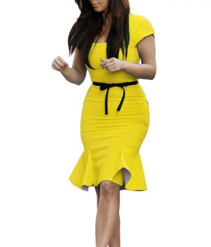 A Miusol Yellow Peplum Dress is IT! | Our Daily Style