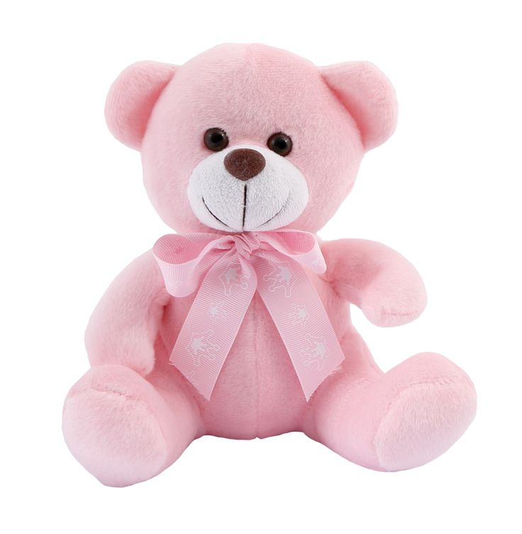 Celebrate the arrival of a baby girl with a Teddy Bear she'll love and cherish for a lifetime. This Bowtie Bear wears a pink bowtie. A great gift for the new baby or the new parents.#NewBaby #TeddyBear