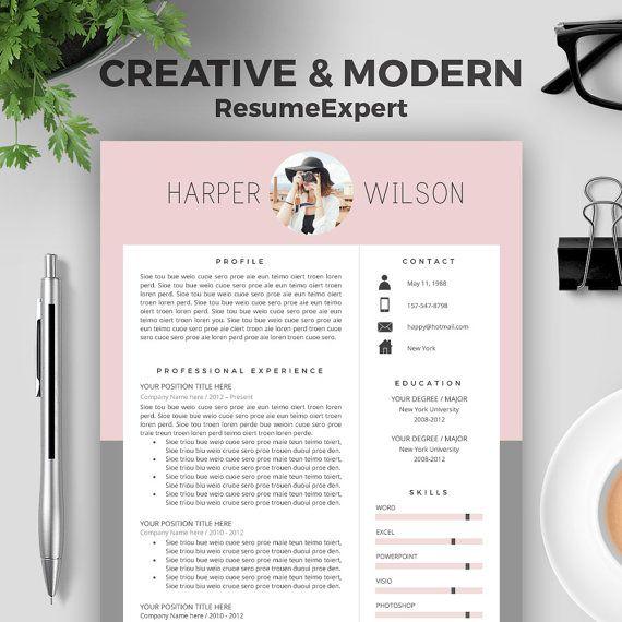 Resume Template / CV Template - The Ashley Roberts Resume Design