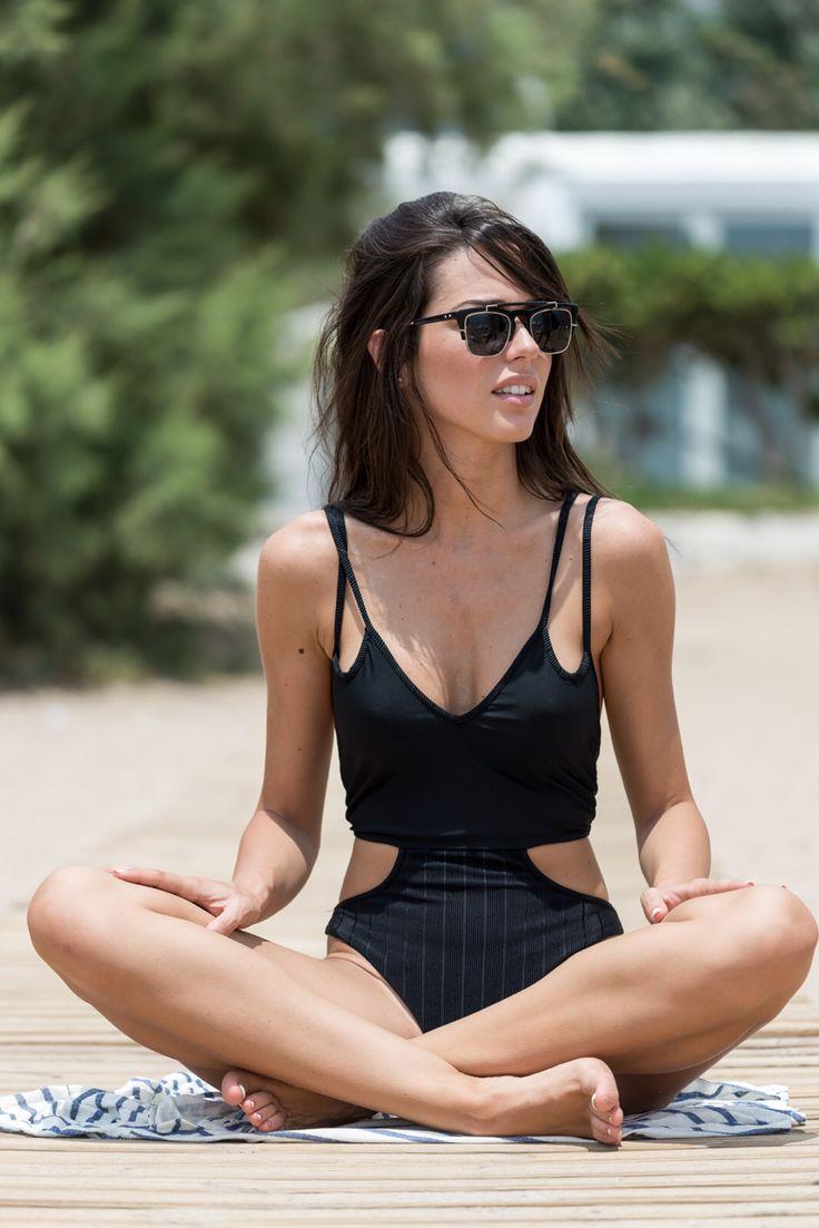 Swimsuit , total black , bynadiarapti , ss15