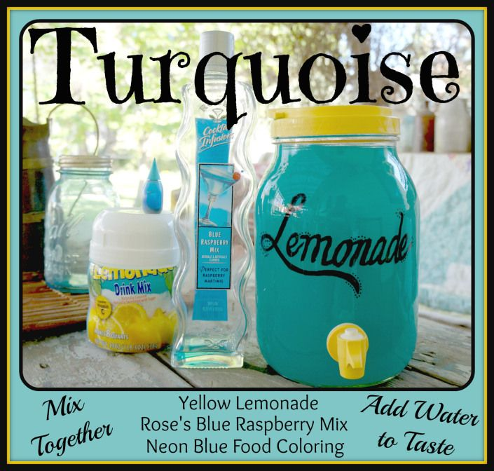 Turquoise Lemonade ~ Only 4 Ingredients ~ Use your food as part of your party décor! Save money and time =o)