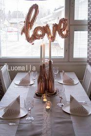 Romanttista ruusukultaa kattauskokeilussa // hääkattaus // table setting // wedding // häät // rosegoldwedding