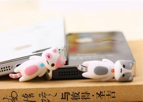 30%OFF Cute Pink Sleeping Cat Kitten Kitty Dust Plug by MilanDIY