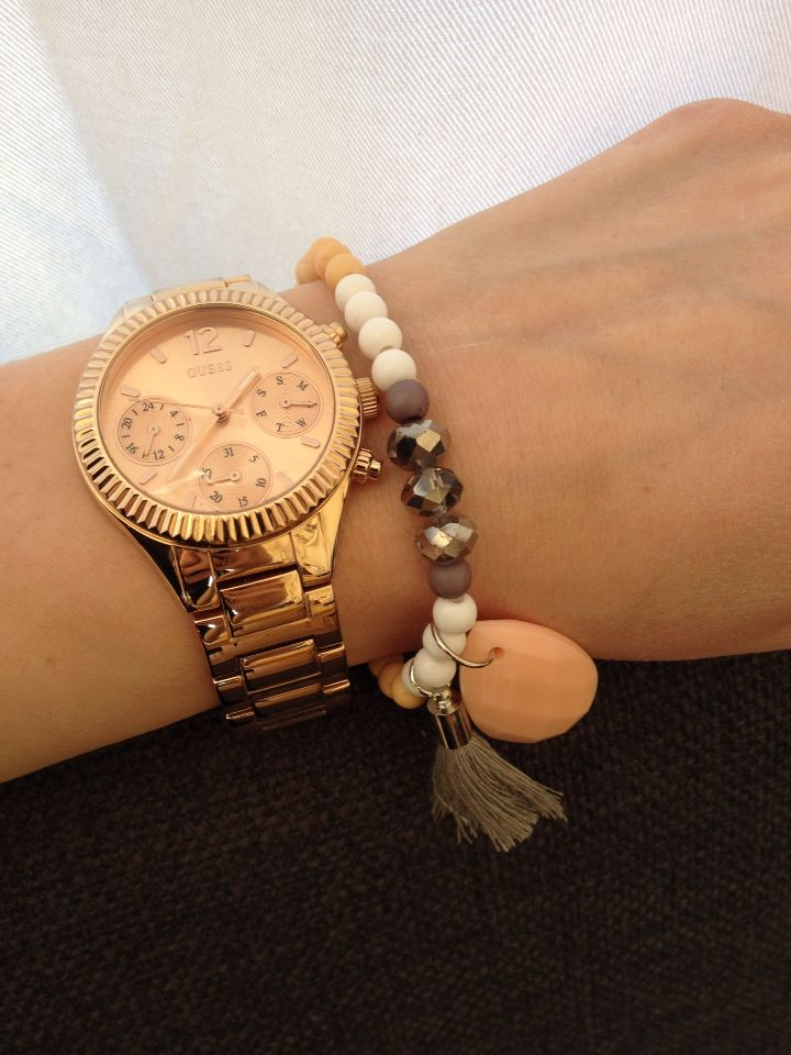 Label by simoon armband en guess rosé horloge