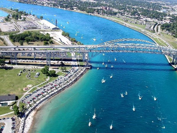 Sarnia, Ontario to Port Huron, Michigan