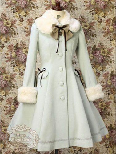 Details über Wollmantel Kawaii Vintage Winter Frohe Weihnachten Lolita Kostüm Damen Mäntel