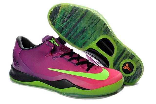 615315 500 Nike Zoom Kobe 8 System MC Red Plum Electric Green Pink Flash
