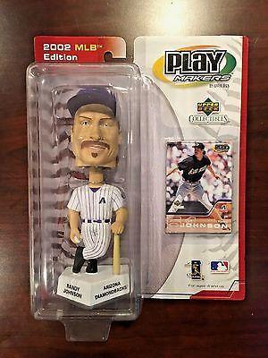 2002 MLB EDITION UD PLAY MAKERS DIAMONDBACKS RANDY JOHNSON BOBBLEHEAD/CARD NEW