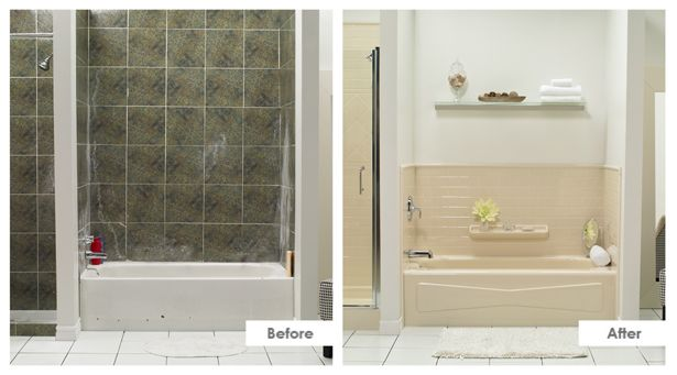 Bath fitter tub to shower before and after photos need for Bathroom refitters