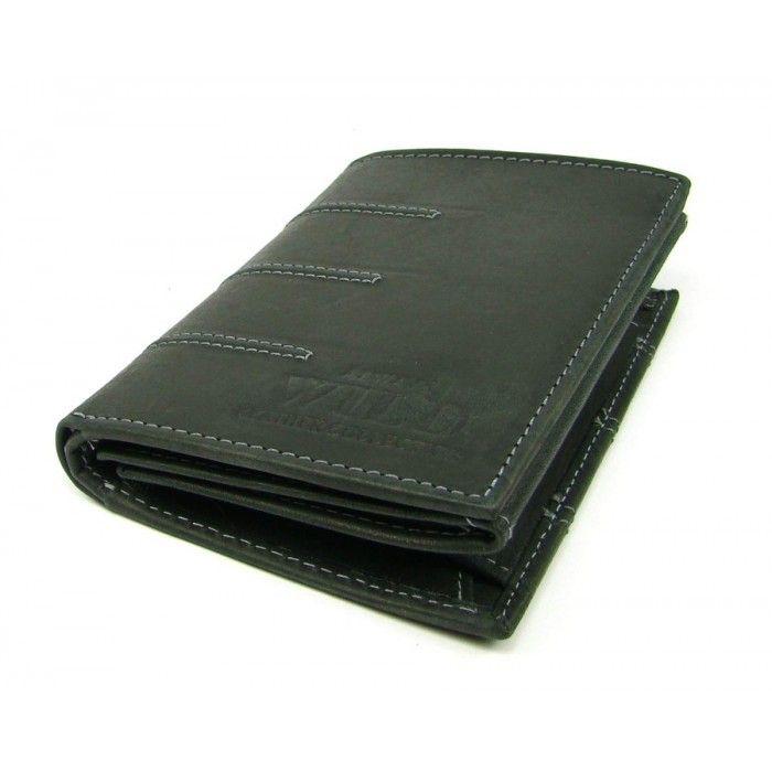 Pánská kožená černá peněženka - peněženky AHAL