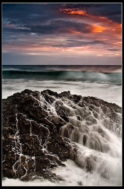 Thomsons Bay, near Ballito, KZN, South Africa. One of my favourite places in the world. The water splashes over these rocks in to a tidal pool-Breath taking*