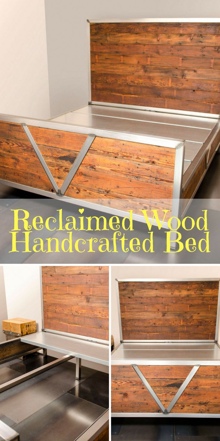 Reclaimed and Salvaged Northwest Fir brings warmth and character to your Master suite, paired with the 2×2 tube steel crafted frame brings just right …