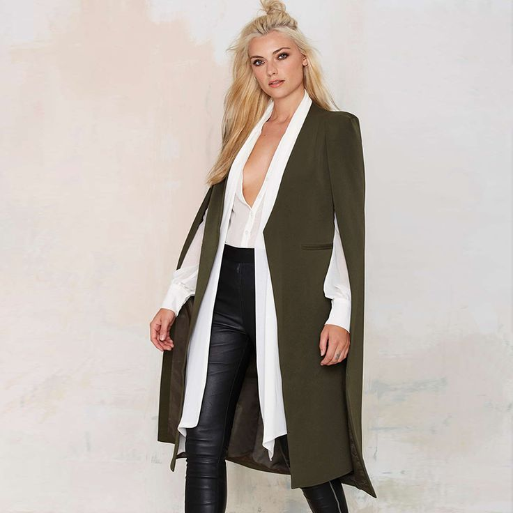 >> Click to Buy << Fashion Street Shoot Women's Overcoat Cardigan No Button Poncho cape outerwear Femme Cape - style Shawl Autumn Coat Wholesale #Affiliate